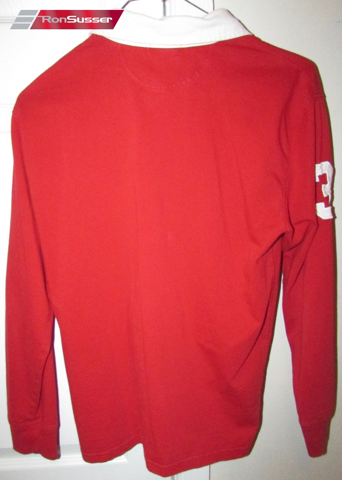 f5ff072fc645 Polo Ralph Lauren  3 Big Horse Logo Long Sleeve Red Rugby Shirt Youth L  (14-16)