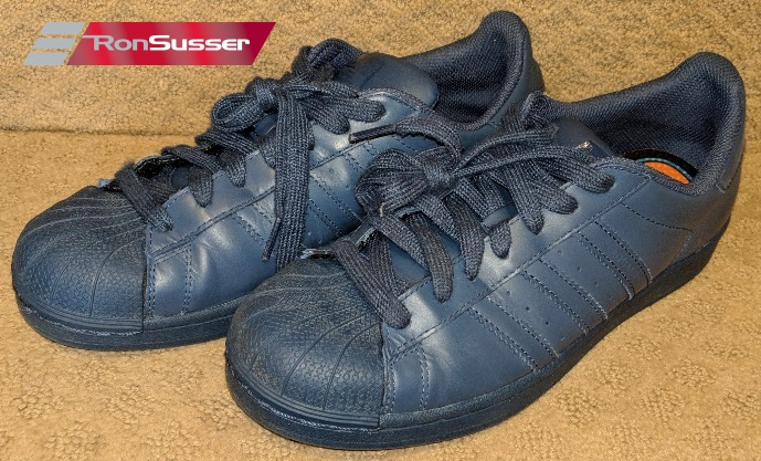 newest collection 2f7d0 137f3 Adidas Pharrell Williams Blue Superstars Supercolor Pack Sneakers Size 9  S41811