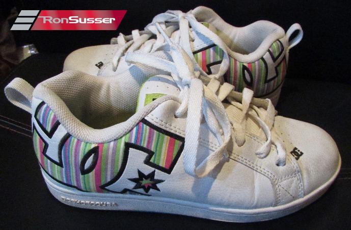 560eac5588 DC Shoe Womens Court Graffik SE skate Shoes Sneakers White Rainbow 7M US  301043
