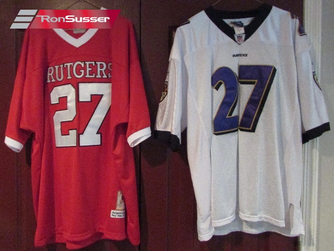 huge selection of 80686 e43a8 Lot of 2 Ray Rice Jerseys by Reebok Baltimore and Rutgers ...