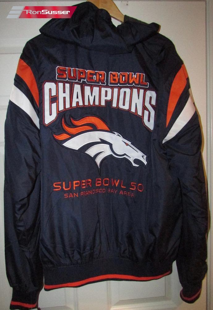 huge discount b64bc ed08b NFL Denver Broncos Super Bowl V 50 Reversible Hoodie Jacket ...