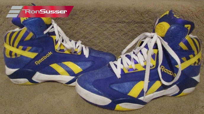b32e39ad5954 Reebok Shaqattaq The Pump M40343 LSU Colors Mens Basketball Shoes in Box  Size 12