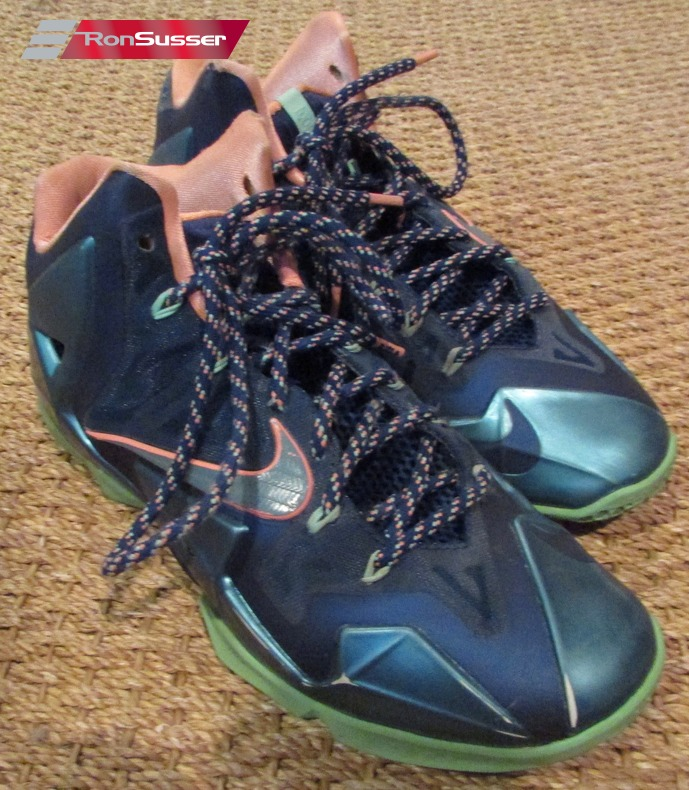 on sale ee5fa 0fc63 2013 Nike Lebron 11 XI Akron Vs Miami Men s Basketball Shoes 616175-400 SZ  12