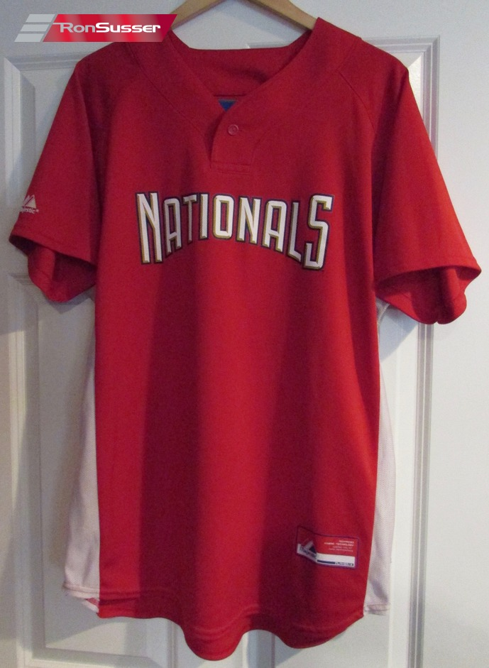 new concept 5f8d9 43e71 Details about MLB Washington Nationals Nats Red Jersey #5 Size Large by  Majestic