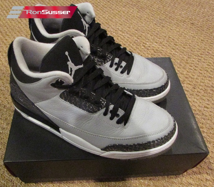 Air Jordan 3 Retro Wolf Grey Size 10 in Original Box 136064-004  8886c9cae