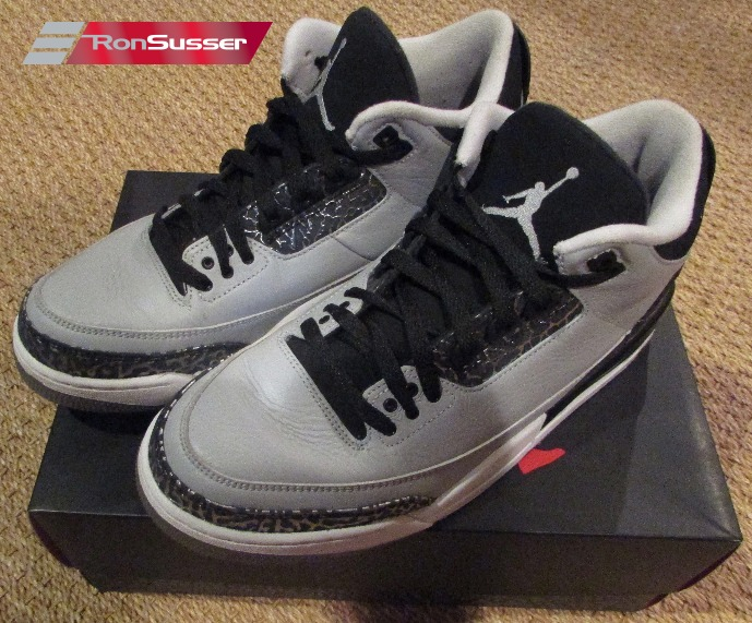 Details about Air Jordan 3 Retro Wolf Grey Size 10 in Original Box 136064 004