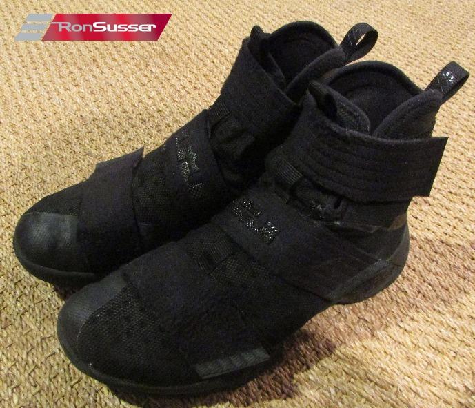 0ca05b9c28e4 Nike ID Lebron Soldier X Championship Edition Triple Black 885682 ...