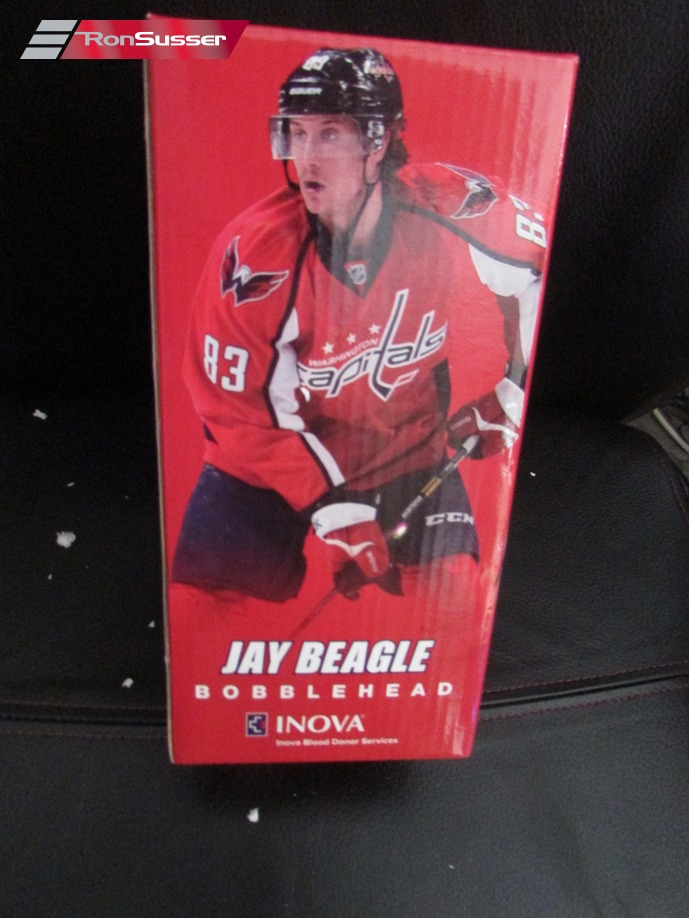 NHL Washington Capitals Jay Beagle Bobble Head Doll SGA by Inova in Orig Box 4ad32984717