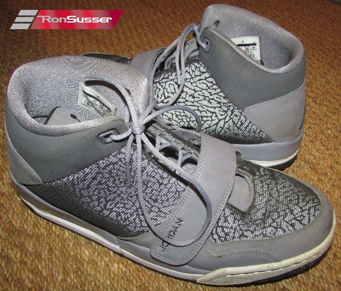 super cute cheap prices uk cheap sale Air Jordan Flight Club 90's 602661-003 Gray Black Basketball Shoes ...