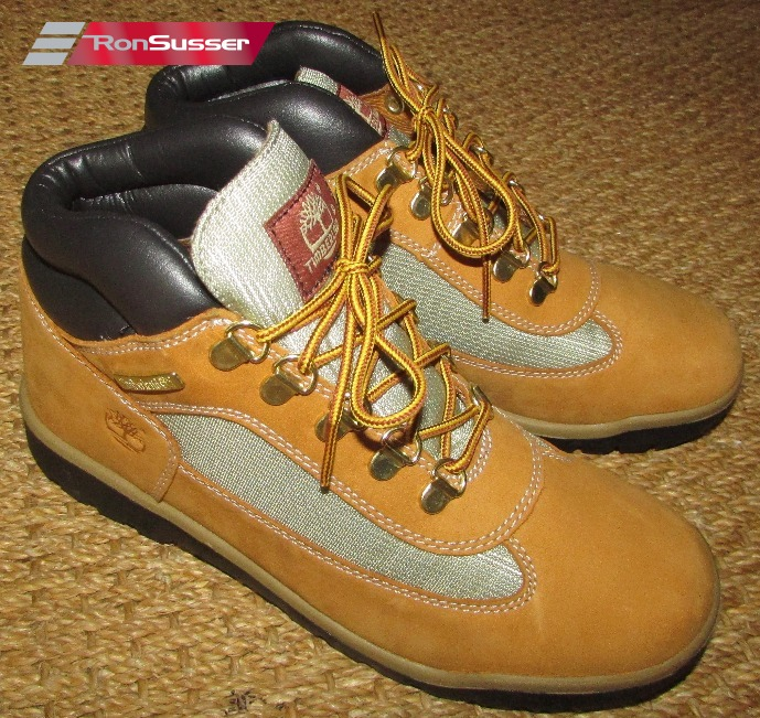 1340ca2a91d Timberland Leather & Fabric Field Boot Mid Wheat for Big Boys Size 7 ...
