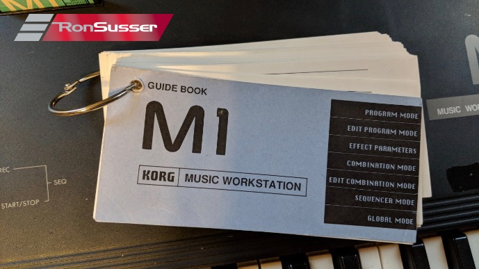Vintage Korg M1 Synthesizer Music Workstation with 2 cards