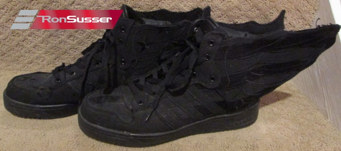 detailed pictures f0029 c43ac Adidas Jeremy Scott Wings 2.0 Black Flag ASAP Rocky Size 11 US D65206