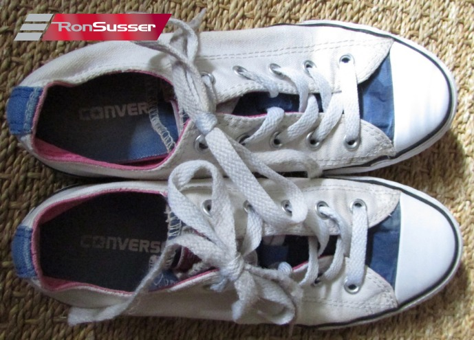 Details about Converse Juniors All Star Double Tongue Athletic Shoe 654339F – White Sz 2