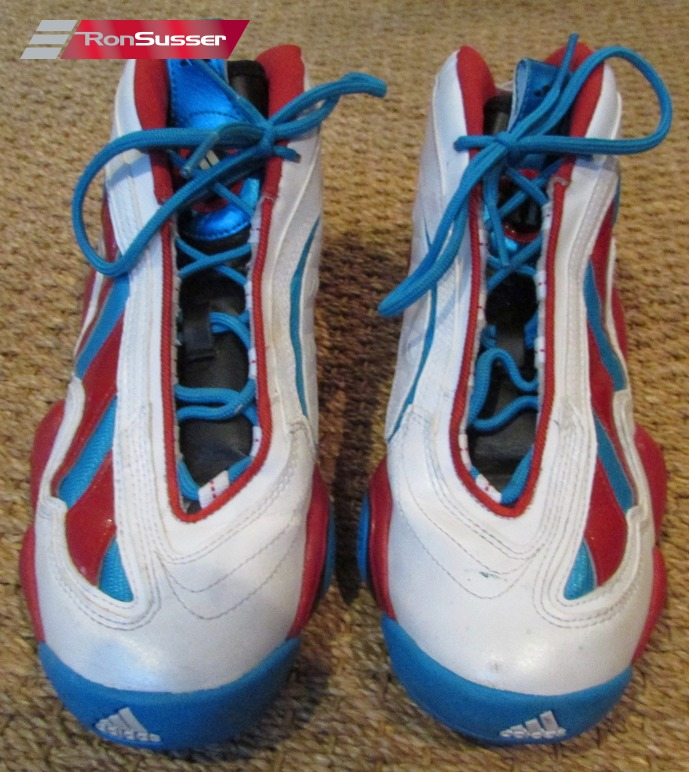 super popular 00df3 62823 Adidas Crazy 97 WhiteLight Scarlet Red-Blue Jrue Holiday Basketball Shoes  G98307 Sz 8.5