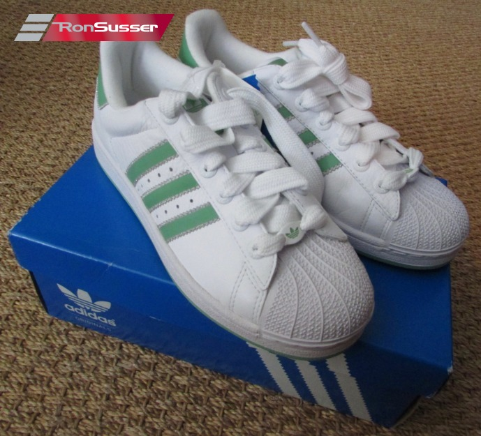 d27091ae02093 ... italy adidas superstar sneakers ladies athletic shoes white green sz 9  561650 nib brand new 46f4f