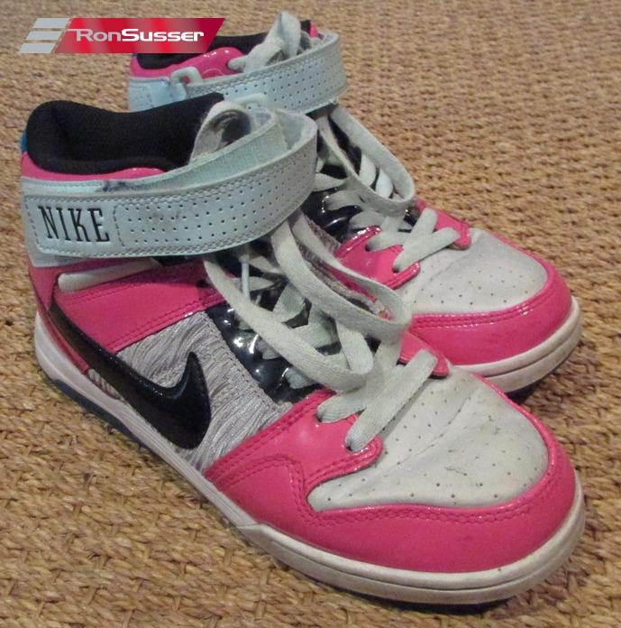 buy popular e2774 4653f NIKE Womens Air Mogan Mid 2 Patent Pink Black Teal Shoe 407479-036 Sz 6.5