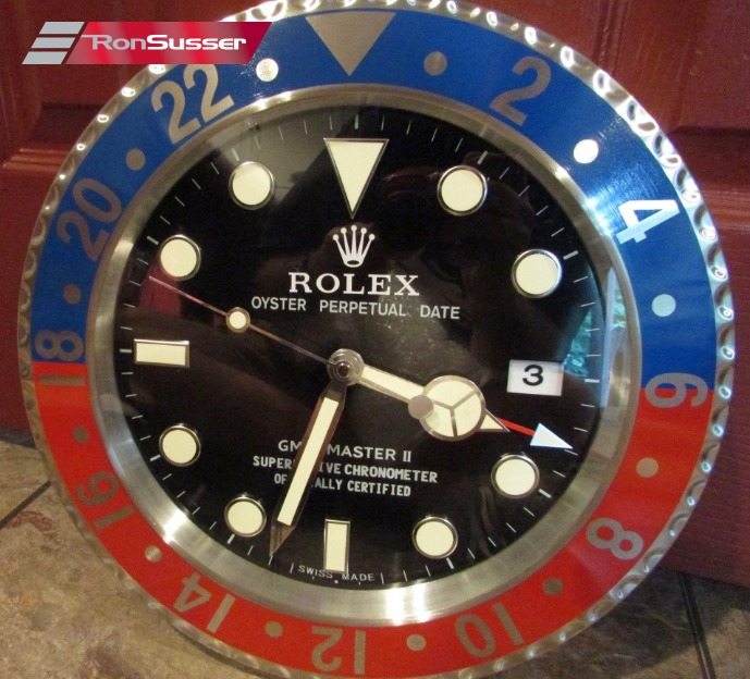 Rare Rolex Authorized Dealer Display Wall Clock GMT Master