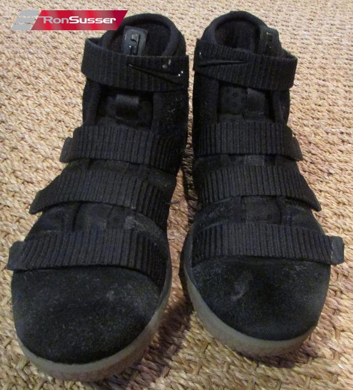 597c540de8a0 2017 Nike Lebron Soldier XI Sneakers Black PS Pre School Sz 1Y  918368-007