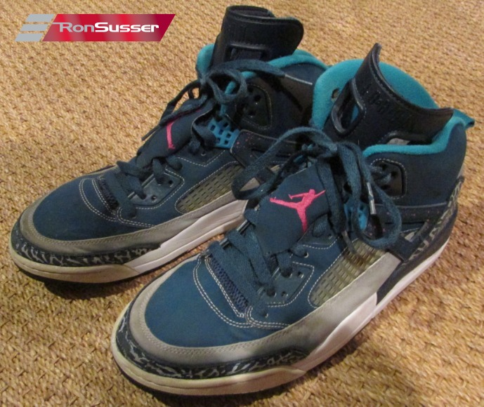 new arrival 5da99 d7eb9 Nike Air Jordan Spizike Space Blue Pink Wolf Grey Teal Basketball Shoes  Size 11  315371-407