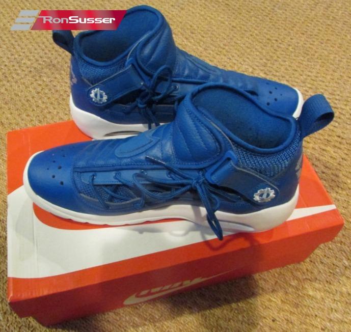9bdcb73b422b76 Nike Air Shake Ndestrukt Mens Shoes Blue White 880869-401 Size 11 Rodman