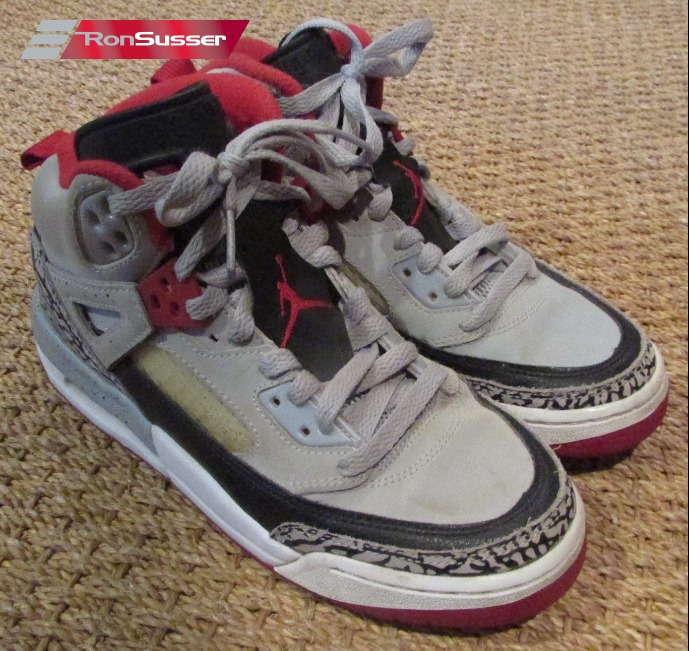 outlet store ec404 c56f8 Nike Jordan Spizike BG High Tops – Wolf Grey Gym Red-Black SZ 5.5Y   317321-013