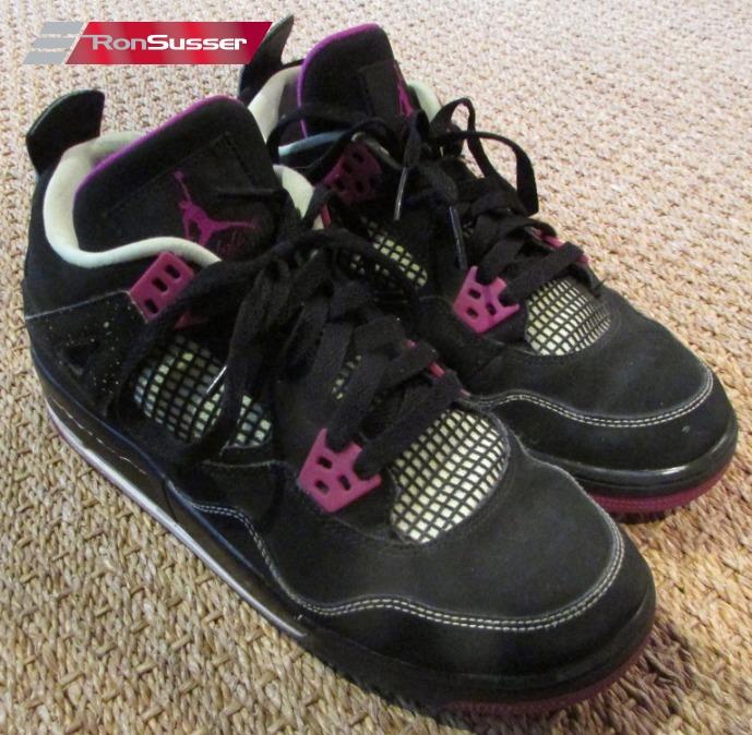 huge discount 04d36 b2b34 Details about Air Jordan 4 Retro IV GS Fuchsia Black Force Flash Lime GG  705344-027 Sz 7Y