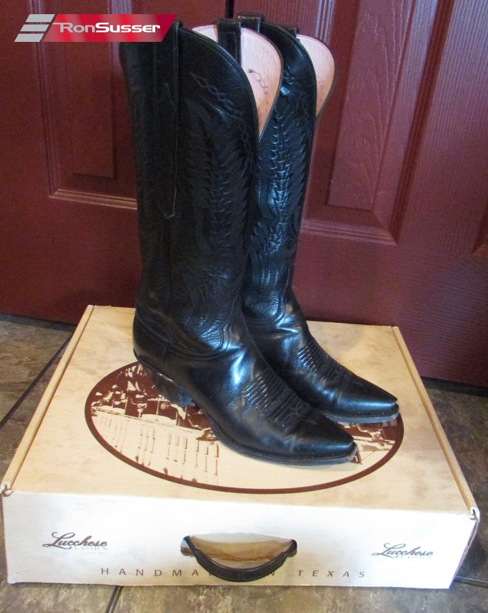 f0f55387e88 Details about Lucchese Classics Handsmade L4583.52FX Womens Black Buffalo  Cowboy Boots Sz 8B