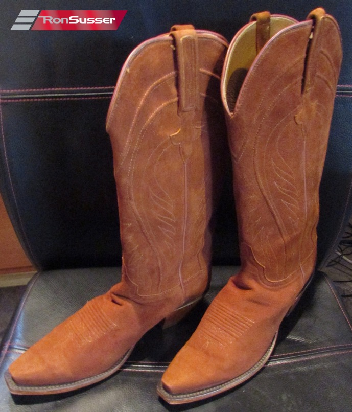 f4d969067f7 Details about Lucchese Classics Handmade Rust Suede Cowboy Boots for Women  Size 8 $850 #L45515