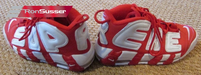 Nike Air More Supreme Uptempo White Red 902290-600 Size 9.5 EUC Suptempo ed81100f8