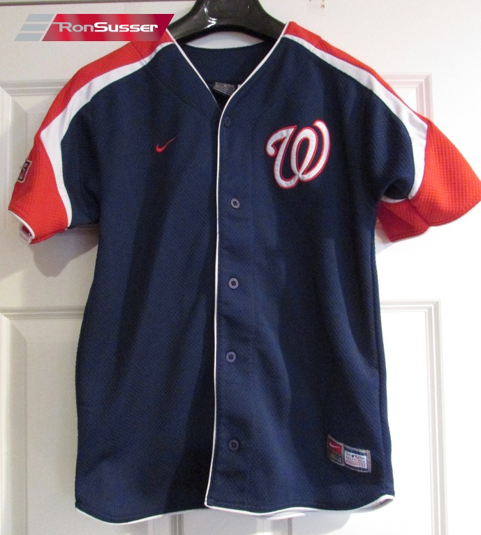 best service c6354 30075 Details about MLB Washington Nationals Nats Shirt Jersey Youth Medium by  Nike
