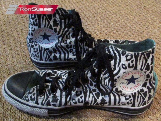 f730c09d684e Converse Chuck Taylor All Star Custom Black Print Hi Tops Sneakers 135528C  Size 6.5 Men 8.5 Women