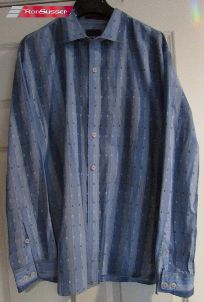 Clothing, Shoes & Accessories Tommy Bahama Maroon Blue White Textured Striped Button Ls Shirt Sz Xl Euc