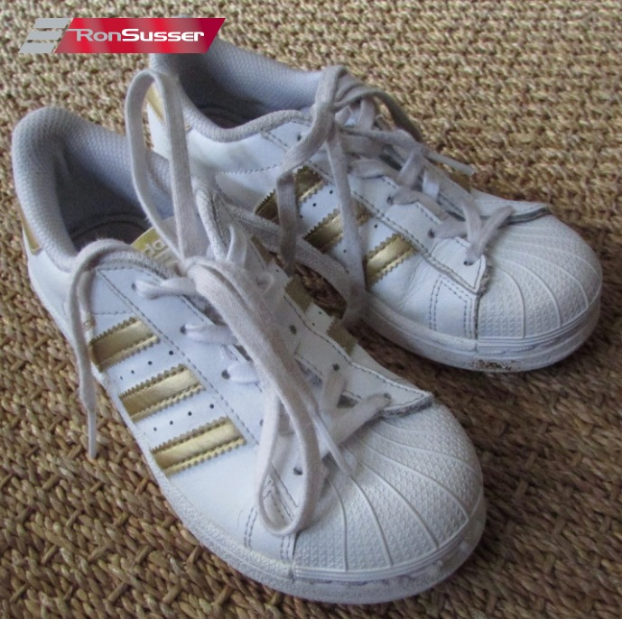 bas prix 3641c dda03 Details about Adidas Original Superstar White/Gold #B39400 Size 13K Youth