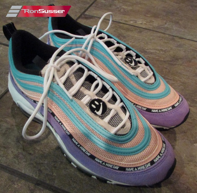 """3f8b7ed6b1 I am pleased to offer these great Nike GS Air Max 97 SE """"Have a Nike Day""""  athletic shoes sneakers. Size is 7Y and style # is 923288-500."""