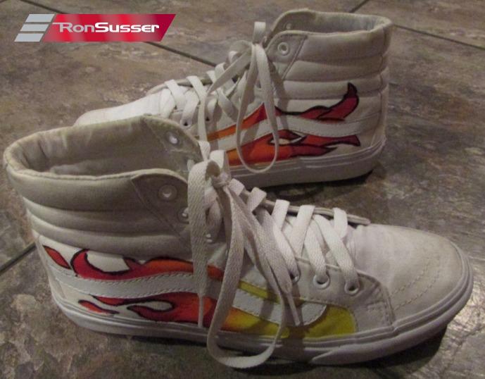 Detalles de Vans Blanco High Top Skater Zapatillas Personalizado Llamas Pintado 6.5M 8W