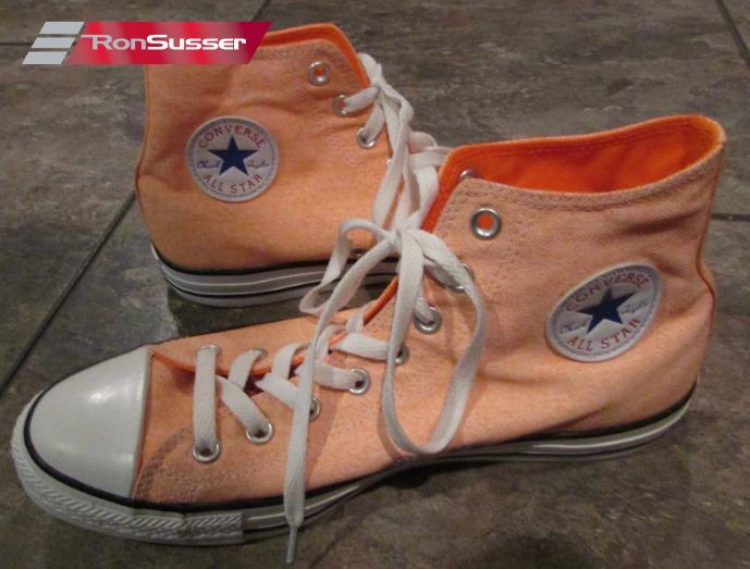 Star Hi Top Washed Neon Orange #136622F