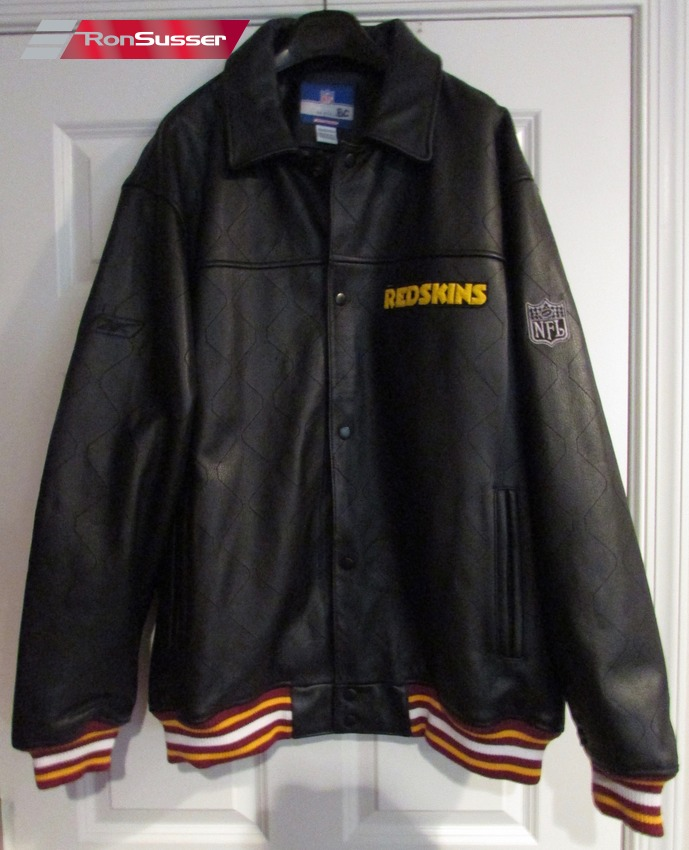 Nfl Washington Redskins Leather Jacket Size Xl By Reebok Coach Owned Gc Ronsusser Com