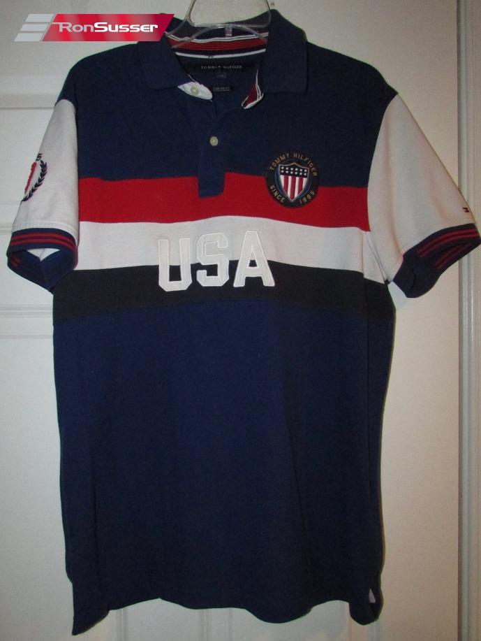 cubrir Emigrar partido Democrático  Tommy Hilfiger USA Polo Golf Shirt Youth Large Great Vintage Design | eBay