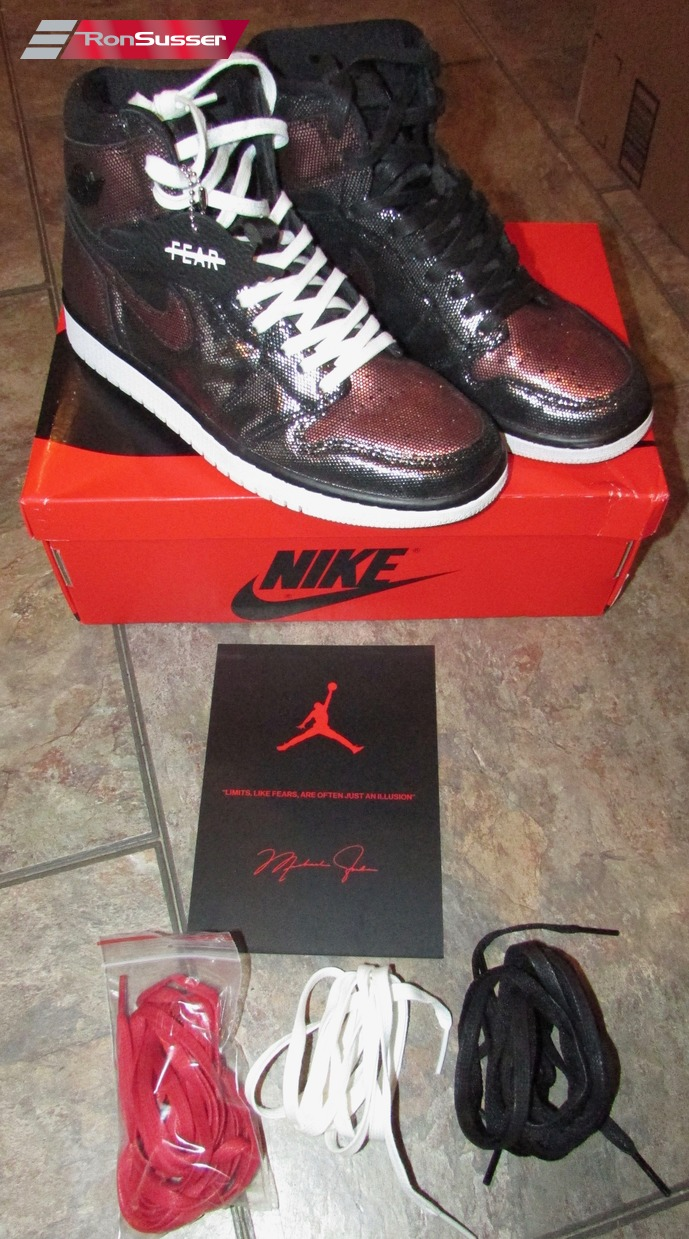 Nike Air Jordan Women S 1 High Og Fearless Black Size 7 5 Cu6690